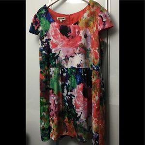 Mario Serrani Italy Floral Summer Dress Size 16